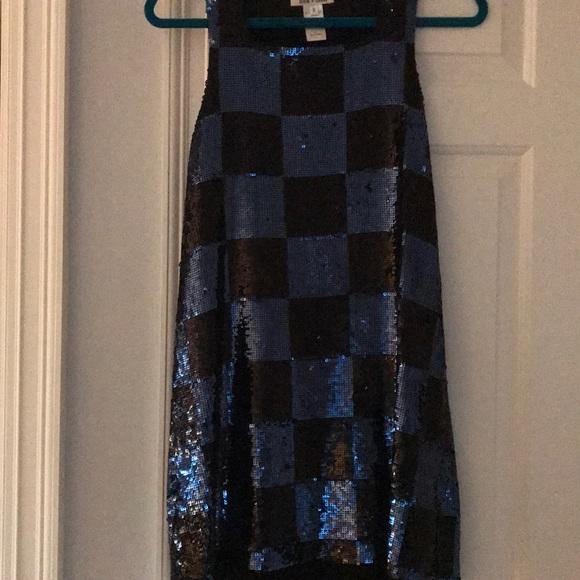 Alice + Olivia Dresses & Skirts - Black and blue sequin dress